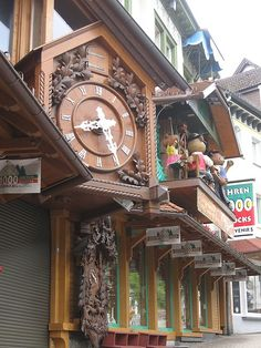 Triberg, Germany - House of 1000 Clocks. We got our Cuckoo clock here. A fun store!