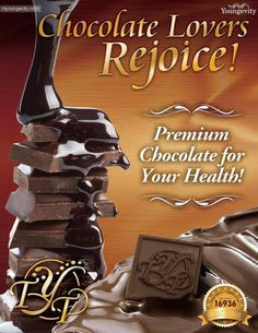 Youngevity Products: Healthy Chocolate by Youngevity  for more info http://mlongacre.my90forlife.com