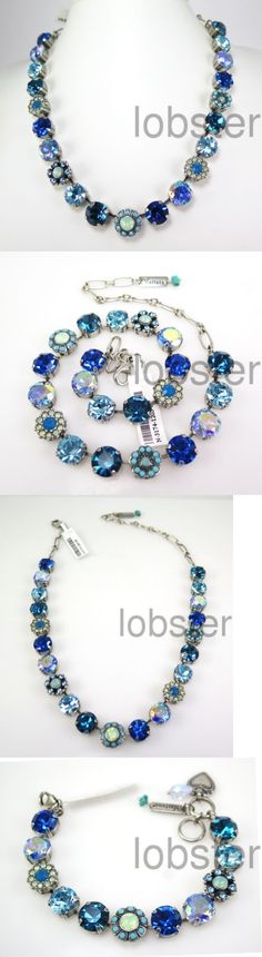 Necklaces and Pendants 110655: Mariana Blue Heaven Mosaic Silver Necklace W Large Multicolor Swarovski Crystal BUY IT NOW ONLY: $175.0