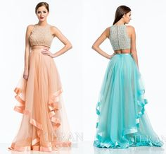 Prom Dresses With Straps Two Pieces Colors Prom Dresses 2015 Fashion Ruched Asymmetrical Tulle Floor Length Cocktail Dresses Jewel Neck Beaded Bodice Party Gowns Ah7 Prom Dress 2015 From Engerlaa, $142.75| Dhgate.Com