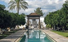 Ibiza's serene scene:  lap pool at the spa at Atzaró