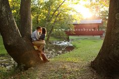 Mingo Creek Covered Bridge engagement photos ©Copyright 2014 Photography by Amanda Wilson