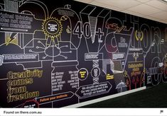 Creative wall mural from Office Mural, Office Signage, Office Branding, Wayfinding Signage, Office Walls, Environmental Graphic Design, Environmental Graphics, Office Interior Design, Office Interiors