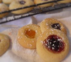 The English Kitchen: Jam Filled Thumb Print Cookies