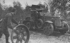 Советский железнодорожный бронеавтомобиль БА-6-ЖД на Волховском фронте