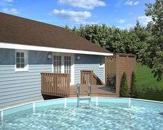 Private Wood Decking Above Ground Pool Decks Pinterest