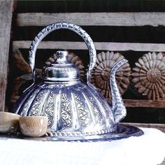 lovely silver kettle