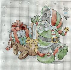 Karácsonyi keresztszemes - Hímzés minták - Ötletek - Személyes oldal