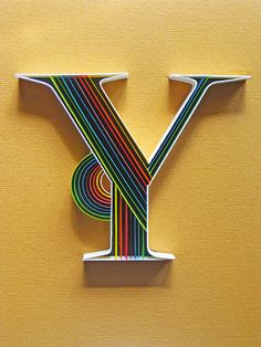 Awesome! - Paper Typography - Y by all things paper, via Flickr