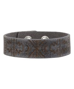 Another great find on #zulily! Gray Bohemian Leather Bracelet #zulilyfinds
