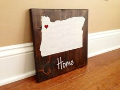 Pick Colors, Oregon Wood Sign, Custom Oregon State Sign, Stained, Hand Painted, Personalize, Oregon decor, Oregon Ducks decor, Beavers decor