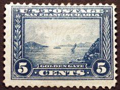 #399 5c Blue1913 VF Pan Pacific Mint Hinged CV $70