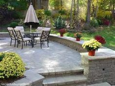 Brick Patios Michigan Brick Paving and Landscape Design Servicing . Outdoor Patio Pavers, Brick Paver Patio, Brick Paving, Paver Walkway, Patio Steps, Backyard Patio, Michigan, Patio Layout, Patio Flooring