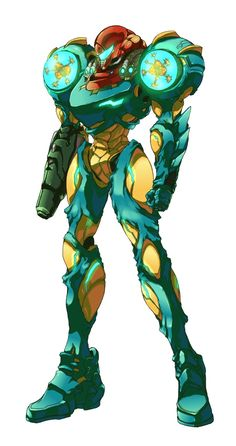 Samus Aran with Fusion Suite / Metroid series #fusion #metroid