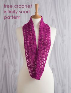 Isis Infinity Scarf Free Crochet Pattern From Red Heart Yarns : Glamorous Wrap Free Crochet Pattern in Red Heart Yarns ...