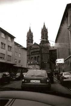 Driving up to Worms Cathedral in Worms, Germany
