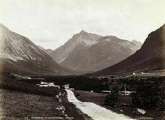 FAKf-100244.160260 «Folstaddalen og Kolaastinderne» (JSR-Kode: A8-A-Natur) Landskap, veg, fjell, Ørsta, Folstaddalen | 1880 - 1900