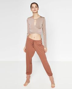 Image 1 of FLOWING BALLET TROUSERS from Zara