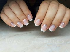 #evgenias_creations #french_nails #pinkshade #glitternails
