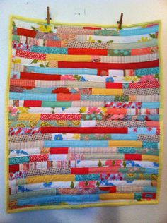 Coral and aqua baby quilt by yorkpatty on Etsy, $82.00 www.yorkpatty.etsy.com