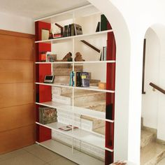Beautiful SKAFFA composition used as partition with red metal boxes Thanks Dennis   SEE MORE http://www.piarotto.com/en/galleria/ #piarotto #shelfie #bookworm     piarotto_bookcases #bookcase #shelving #bookshelf #interiordesign #partition #bespoke #madeinvenice #venezia #etsy #etsyshop #etsystore#etsyitalia #etsysellers #etsysellersofinstagram #ecommerce #onlinefurniture #onlinestore #onlinestores #onlineshopping #internationaleshipping