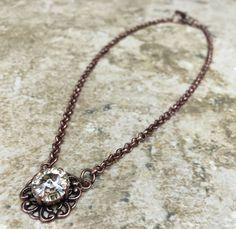 Silk Single Stone Necklace