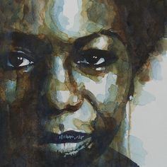 The Majestic Nina Simone by Paul Lovering. #ninasimone #watercolour