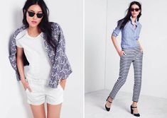 florals jackets, bleached out printed denim, striped linen, stonewashed jeans,