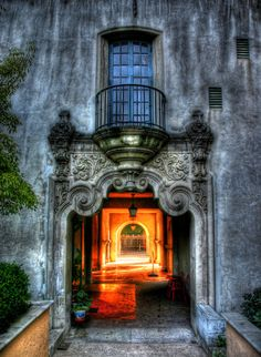 Portal at the Old Globe Theater in Balboa Park. Yes I would want this in my house! By Paul Koester.