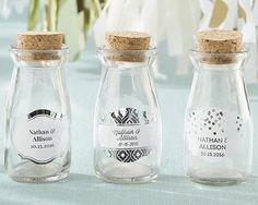 Personalized Milk Jar - Silver Foil (Set of 12)