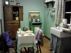 Kitchen/ dining 1940's War time | Flickr - Photo Sharing!