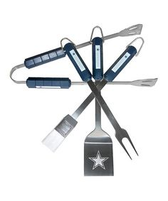 Take a look at this Dallas Cowboys 4-Piece Barbecue Set by NFL Game Day: Tailgating Essentials on #zulily today!