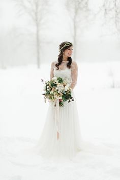 Photography: Rebecca Hollis Photography - rebeccahollis.com  Read More: http://www.stylemepretty.com/2014/10/01/winter-wedding-inspiration-at-green-valley-ranch/