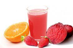 Jugo de naranja y fresa Fresco, Strawberry, Fruit, Vegetables, Desserts, Recipes, Gifts, Food, Gift Ideas