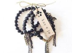 the kai stack // #kayandjobracelets #stackedbracelets #allblack #armcandy #jotd www.kayandjo.com