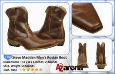 "Steve Madden Men's Rostan Boot | Steve Madden, the company, was founded by Steve Madden, the man, in 1990 in Brooklyn, where he started out making trend-advancing shoes one pair at a time. It was not long after that the Steve Madden focus on ""now-ness"" earned rave reviews from young female fans mad for the funky, chic, and yet competitively priced footwear it produced. The company popularized the ""dressy sneaker,"" and continues to man the forefront of trends."