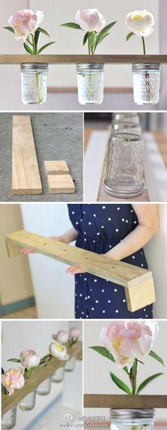DIY Mason Jar Craft Vases