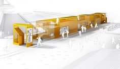Stratford Station Olympic Kiosk Competition proposal / LGT Office