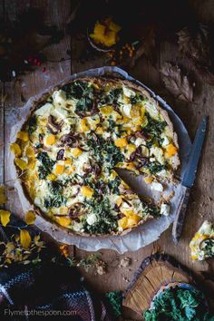 Tarta orkiszowa z dynią i fetą Tart Collections, I Love Food, I Foods, Vegetable Pizza, Quiche, Food Photography, Food And Drink, Appetizers, Pumpkin