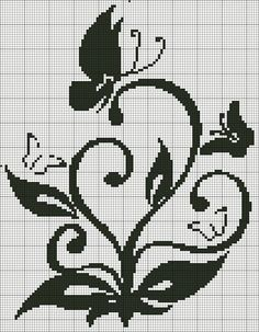 Papillon butterfly cross stitch