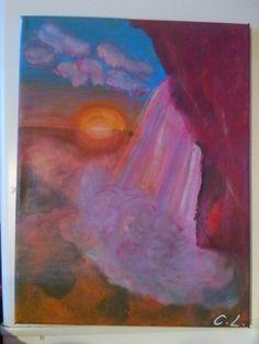 Sonnenuntergang Acryl