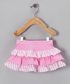 Take a look at this Pink Bunny Ruffle Skirt - Infant & Toddler by Blow-Out on #zulily today!