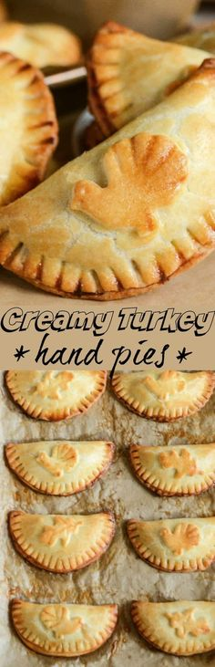 Creamy Turkey Hand Pies: warm flaky turnovers are stuffed with a delicious turkey filling made with herbs, @McCormickSpice gravy and onion and then baked until golden brown!    Recipe sponsored by my friends at McCormick Spice!