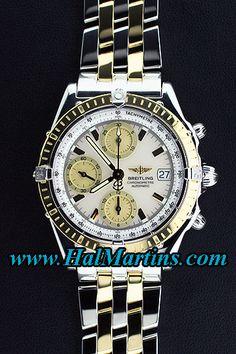 #Breitling Chronomat D13352 with White MOP Dial, $4,200.00. www.halmartins.com