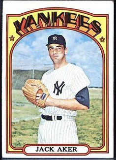 1972 Topps Jack Aker New York Yankees #769 (vg) (bends/creases/corner wear)