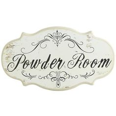 Powder Room Sign Metal Bathroom Sign French Decor By