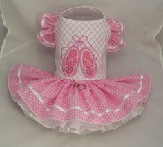 Small dog harness dress. Tutu skirt. Ballet Slippers by poshdog, $64.00