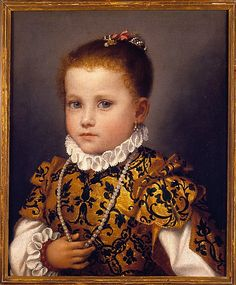 Giovanni Battista Moroni ~ Portrait of a Little Girl of the Redetti Family, c.1570