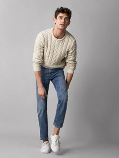 Nice style by Massimo Dutti Fall Fashion Outfits, Trendy Outfits, Mens Fashion, Style Casual, Men Casual, Casual Styles, Poses References, Mens Clothing Styles, Stylish Men