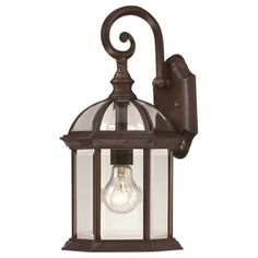 Boxwood Outdoor Wall Lantern I in Rustic Bronze  at Joss and Main